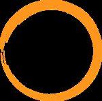orange, circle, logo